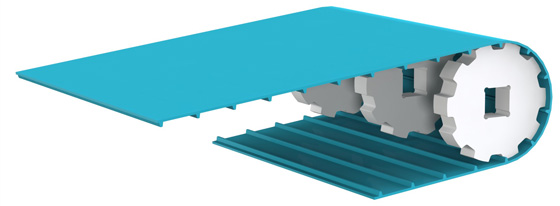 positive drive conveyor belt DEL/DRIVE : replacement of modular belts