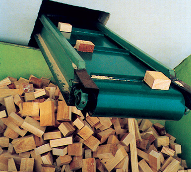 banda transportadora madera